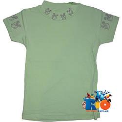 "Летняя трикотажная футболка-американка ""Minnie Mouse"" , для девочки от 5-8 лет"