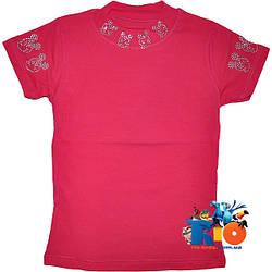 """Летняя футболка-американка """"Minnie Mouse"""" , из трикотажа , для девочек от 5-8 лет"""