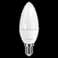 Светодиодная лампа MAXUS CL-F 4Вт C37 E14