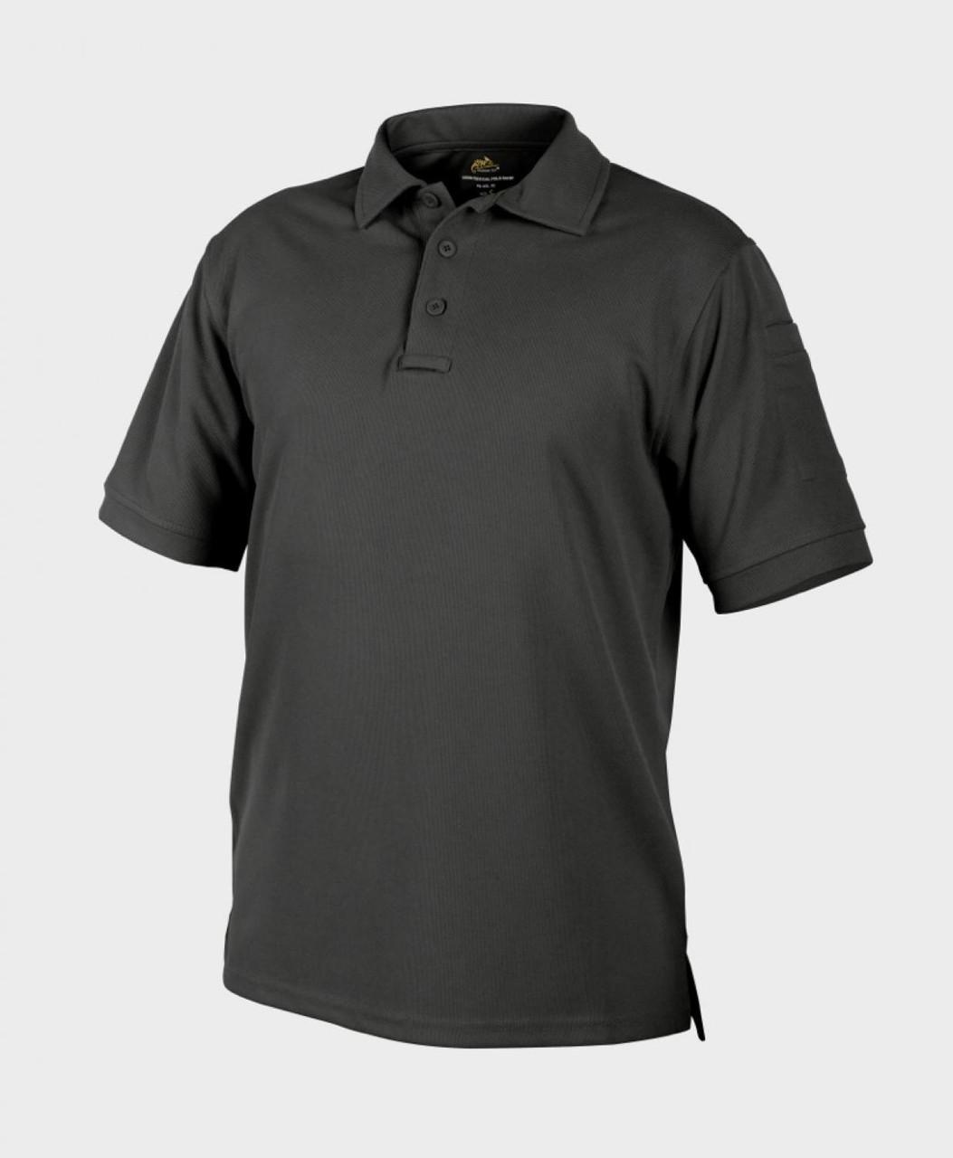 Термофутболка поло тактическая Helikon-Tex® UTL® Polo - Черная