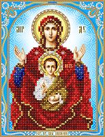 """Схема для вышивки бисером на атласе икона """"Богородица Знамение"""""""
