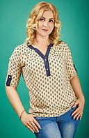 Летняя блуза из штапеля в больших размерах