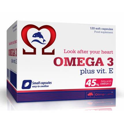 Omega 3 (45%) + Vit E 120 caps Olimp Labs, фото 2