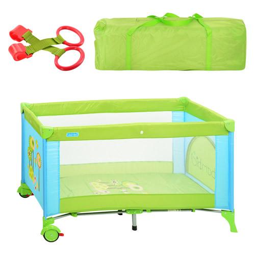 Манеж-кровать Bambi M 1601 львенок зелено-голубой