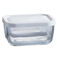 """Судок стеклянный квадратный с крышкой 420 мл """"Snow Box 53733"""""""