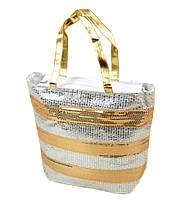 Полосатая женская сумка Корзина