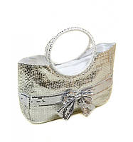 Женская сумка Корзина с бантом
