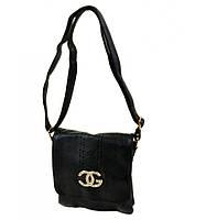 Клатч сумка черная с эмблемой