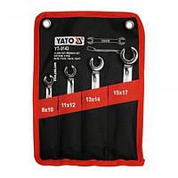 Набор разрезных ключей 4 шт.  Yato YT-0143