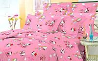 Полуторный детский комплект (рисунок Привет Китти)