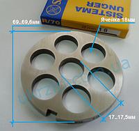 Решетка  Unger R/70, 18 мм для мясорубки Fama, Sirman, Fimar, Everest
