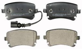 Тормозные колодки дисковые задние (С датчиком) Audi A4, A6 2.0TDI 1999- / Т5, фото 2