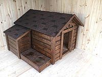 Деревянная будка для крупных собак