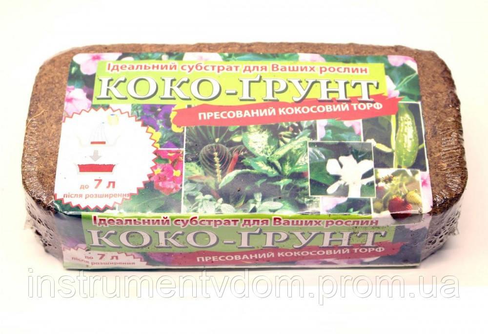 """Прессованный кокосовый торф """"Коко-грунт"""" CERES, брикет 500 г (упаковка 10 брикетов)"""