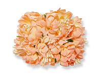 Букет декоративных цветочков — Хризантема, цвет персиковый, 4 см, 3 шт