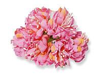 Букет декоративных цветочков — Хризантема, цвет розовый, 4 см, 3 шт