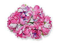 Букет декоративных цветочков — Хризантема, цвет ярко-розовый, 4 см, 3 шт