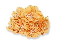 Букет декоративных цветочков — Пеларгония, цвет персиковый, 4 см, 3 шт