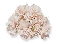 Букет декоративных цветочков — Пеларгония, цвет туманно-розовый, 4 см, 3 шт