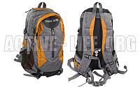 Рюкзак  спортивный, городской, для ноутбука, 35l (grey-orange), фото 1