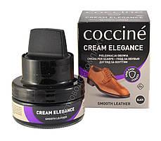 Крем для обуви Elegance Coccine+ комплект для очистки 50 мл, цв. черный