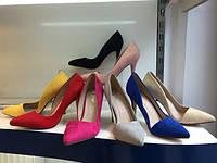 Туфли женские на шпильке лодочки классические разные цвета 36-41
