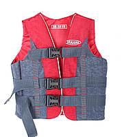 Страховочно - спасательный жилет 30-50 кг красно-серый