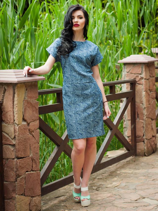 легкое летнее джинсовое платье, женское летнее платье, платье на жару, свободное платье когда жарко