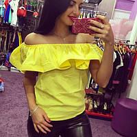 Блуза женская Яна желтая , женская одежда