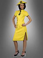 Желтое платье с китайскими иероглифами