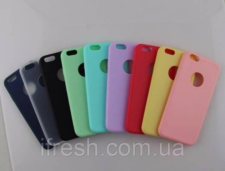 Чехол силиконовый Soft Touch для iPhone 5/5s, ментоловый