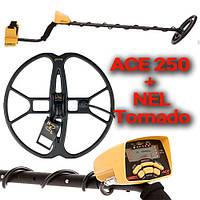 Металлоискатель Garrett ACE 250 + катушка Нел Торнадо, США, Грунтовый
