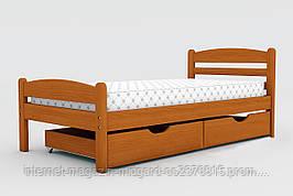 """Односпальная кровать """"Вега""""  массив дерева с ящиками 190*80 см"""
