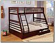 """Двухъярусная трехспальная кровать семейного типа """"Юлия """" трансформер массив, фото 3"""