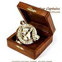 Часы солнечные с компасом NI232A в деревянной коробке
