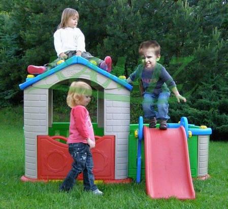 Детский большой игровой домик с горкой, фото 2