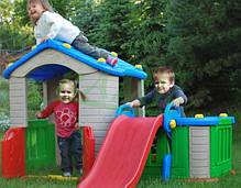 Детский большой игровой домик с горкой, фото 3