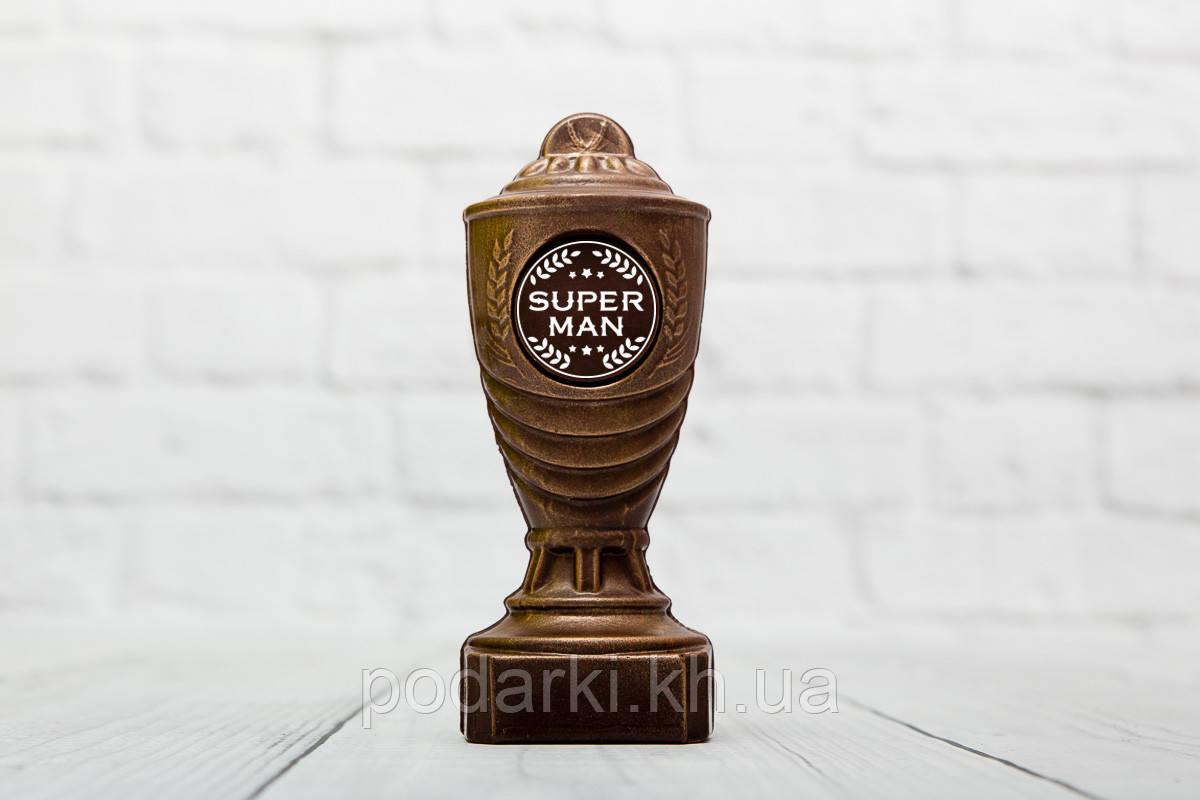"""Шоколадный кубок """"Super man"""". Подарок - награда мужу."""