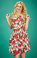 Симпатичное платье с цветочным рисунком Алина