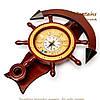 """Часы  со штурвалом настенные деревянные """"Якорь"""" 1024-818A, фото 3"""