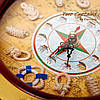 """Часы  со штурвалом настенные деревянные """"Якорь"""" 1024-818A, фото 4"""