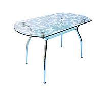 Стол стеклянный Кристал пескоструй