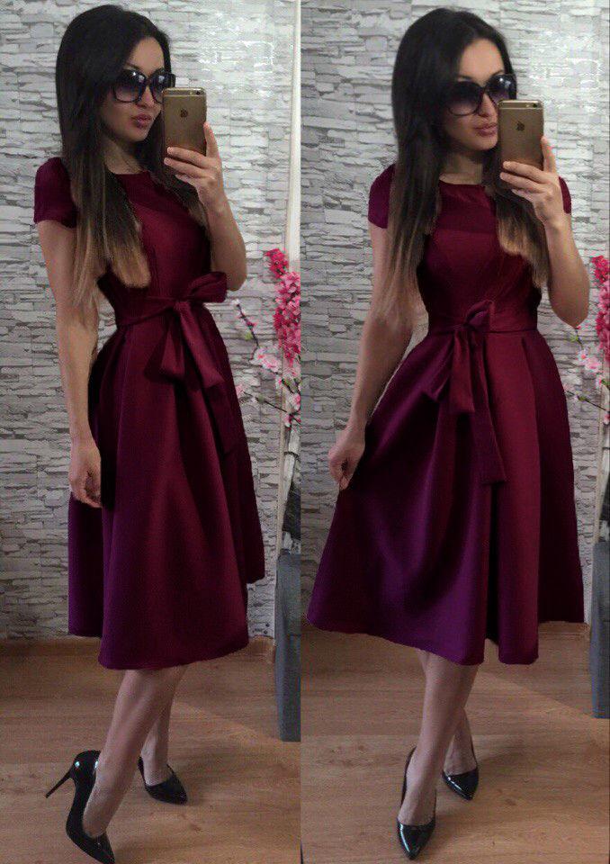 c3a441c8ec5 Женское нарядное Платье Флер бордо р. 42