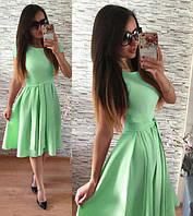 Женское нарядное Платье  Флер- мята