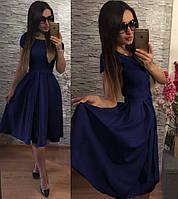 Женское нарядное Платье  Флер- т. синий