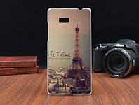 Силиконовый чехол накладка для HTC Desire 600 с картинкой башня2