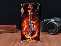 Силиконовый чехол накладка для HTC Desire 600 с картинкой гитара