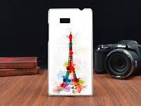 Силиконовый чехол накладка для HTC Desire 600 с картинкой башня красками