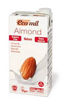 Молоко миндальное без сахара, ТМ EcoMil, 1 л