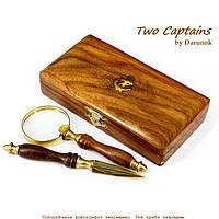 Набор лупа и нож для конвертов деревянной коробке NI153A